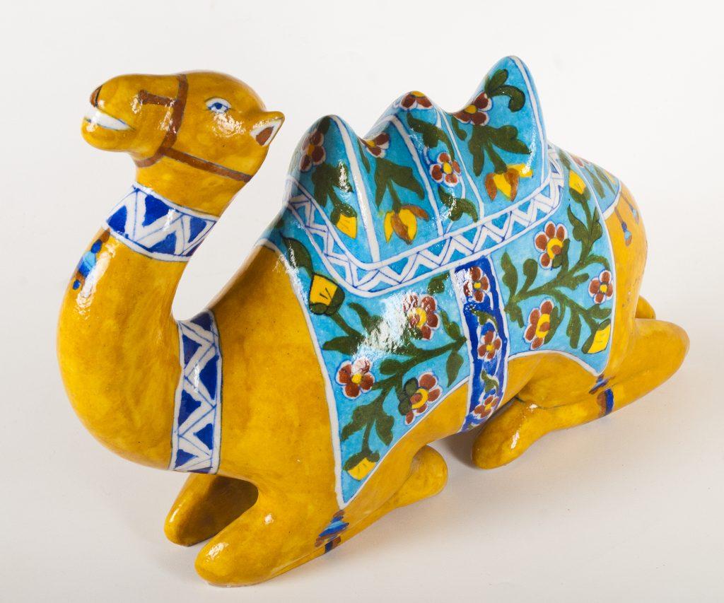Blue Pottery Camel