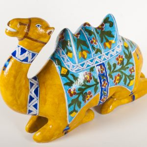 Blue Pottery Camel
